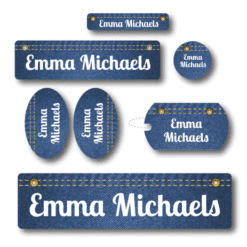 Denim Kids School Labels Pack