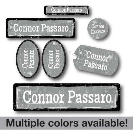 Grunge Kids School Labels Pack