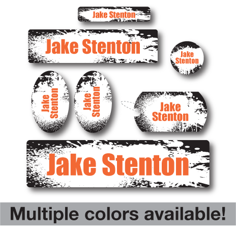 Splatter Kids School Labels
