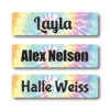 Tie Dye Rectangle Name Labels